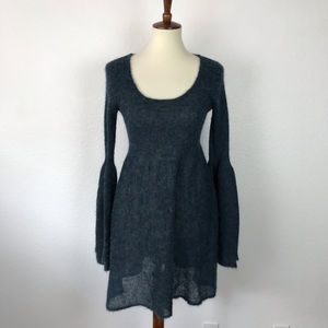Free People Sheer Tunic Wool Blend Dress